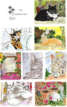 NEW Cat Collection ONE by Fifi Flowers on Etsy, $16.00