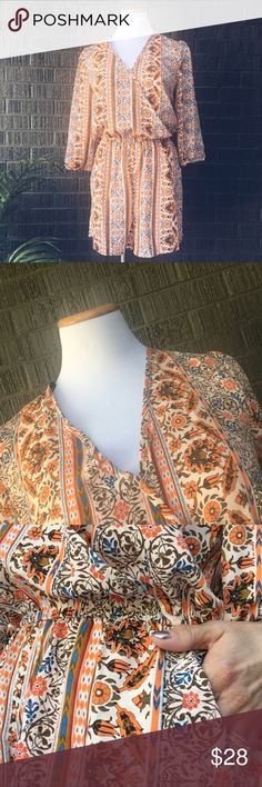 Iris boho orange romper one piece suit Brand new without tags. Gorgeous little romper and right on trend! Size medium. Iris boho orange romper one piece suit. Iris Pants Jumpsuits & Rompers
