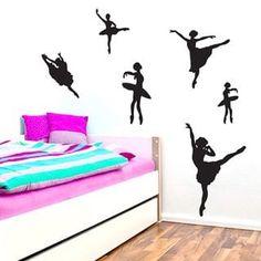 Teen Bedroom Designs, Room Ideas Bedroom, Girls Bedroom, Bedroom Decor, Bedrooms, Dance Bedroom, Dance Rooms, Dandelion Wall Decal, Ballerina Nursery