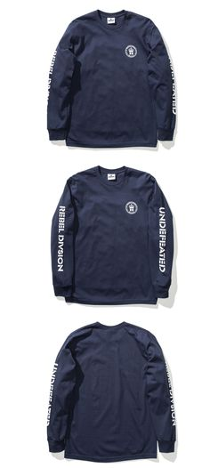 Shirts 73983: Undefeated X Shoyoroll Navy Blue Undftd Syr Crest Long Sleeve Tee New T-Shirt Ls BUY IT NOW ONLY: $33.0