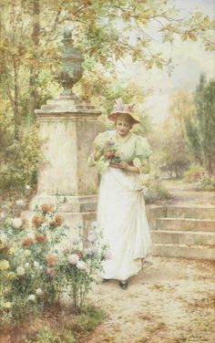 Alfred Glendening Jr. (1861 - 1907) - A choice blossom, 1900