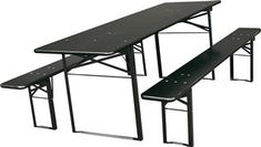 Brau bord-/benkesett - 67 x 220 cm - svart