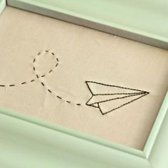 Simple needlework--paper airplane. I'll make this for Bob because on the night he asked me out, we saw the Paperman short in theaters. :):)
