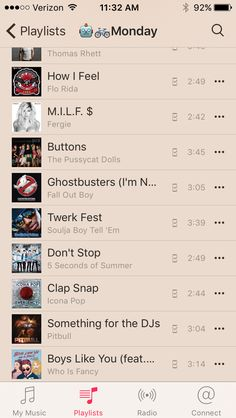 Pussycat Dolls, The Pussycat, Soulja Boy, Thomas Rhett, Flo Rida, Fall Out Boy, Ghostbusters, How I Feel, Workout