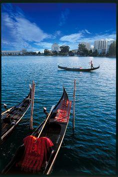 A slice of Venice, Oakland's Lake Merritt includes gondola services. http://www.gondolaservizio.com/