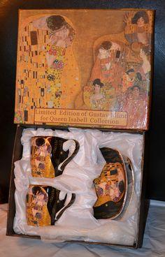 Gustav Klimt Espressotassen Der Kuss 6teilig Schwarz, Porzellan Gustav Klimt, Painting, Collection, Art, Atelier, China China, Kiss, Gifts, Black