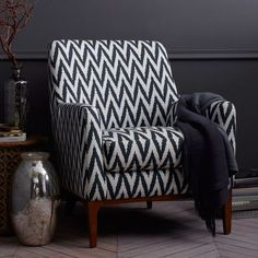 DINING ROOM  Sloan Upholstered Chair - Prints | West Elm   seat height 20.5