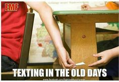 The good old days - Texting in the Old Days. Remember slipping notes and hoping not to get caught! Those Were The Days, The Good Old Days, All The Bright Places, I Remember When, My Childhood Memories, School Memories, 1980s Childhood, 90s Kids, My Memory