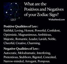 Find Positives and Negatives of your Zodiac Sign- Leo