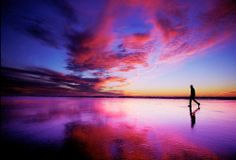 Panoramio - Photo of Sunset Beach Walker. Beach Walk, Sunset Beach, Trip Hop, Beautiful Sites, Beautiful Beautiful, Purple Sky, World Of Color, Beautiful Landscapes, Cool Photos