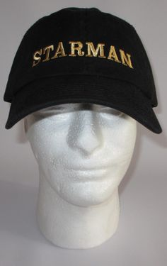 Custom embroidered hats / caps, STARMAN Cap by CreativeSenseCom on Etsy Embroidered Toilet Paper, Custom Embroidered Hats, Branded Caps, Panel Hat, Secret Santa Gifts, Milestone Birthdays, Caps Hats, Primary Colors, My Etsy Shop