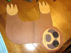 Rainforest: Sloth - cute craft ideas