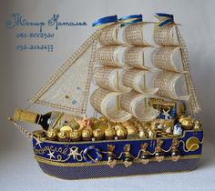 "Gallery.ru / Корабль из конфет ""Везунчик"" - Масштабные корабли - monier"