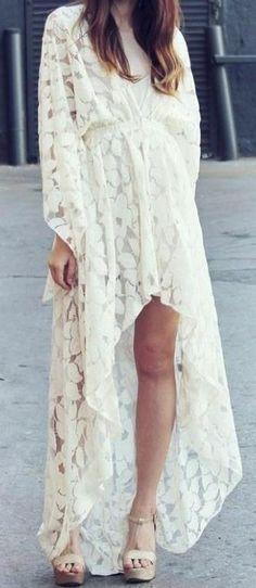 White Kaftan. I would definitely prefer a full length dress, but love the classic Kaftan/Kimono design.
