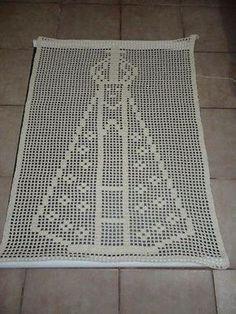 Lada Crochês e Pinturas: Nossa Senhora Aparecida em crochê-Quadro
