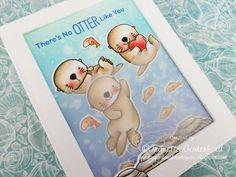 Otterly in Love MFT, Lawn Fawn & Prismacolor Pencils - YouTube