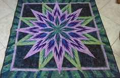 Feathered Star, Quiltworx.com, Made by Shirley Van Vlierden Robbins.