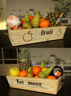 fruitbakje gemaakt van pallet hout / fruitbasket made of pallet wood