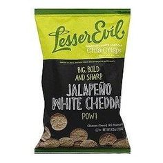 Lesser Evil Jalapeno White Cheddar Chia Crisps 4oz. Also available in ...