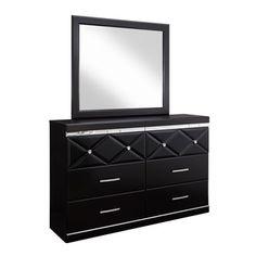 Shop for Signature Design by Ashley Fancee Black Dresser-mirror Combination. Get…