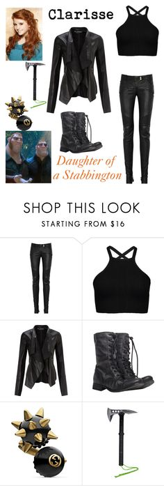 """descendants oc- stabbington brother"" by theclocker ❤ liked on Polyvore featuring Balmain, Miss Selfridge, AllSaints and Gucci"