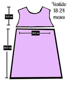 Medidas vestido niña 2 años
