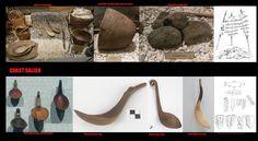 Attrezzi da cucina e sistemi di cottura dei Coast Salish. Come le popolazioni più meridionali della Costa Nordoccidentale  i Coast Salish  usavano per far bollire l'acqua dei cesti impermeabili in cui introducevano pietre arroventate sul fuoco.