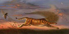 © Vladimir Kush » Beeing a Tiger «