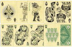 """""""Four Point"""" mint edition playing cards designed by Ben Vierck, 2014"""