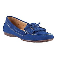 John Lewis Milan Nubuck Fringe and Bow Detail Loafers