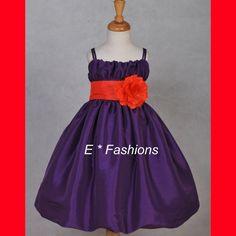 Plum Purple Flower Girl Dresses | 839purpleorangea.jpg