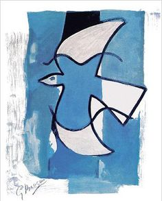 Georges Braque - The Blue and Grey Bird 1962
