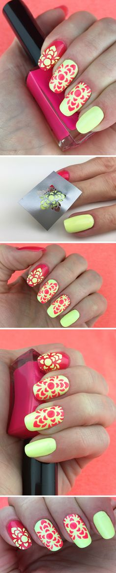 """Nail Stencils design """"Mehndi"""". i need these colors!"""