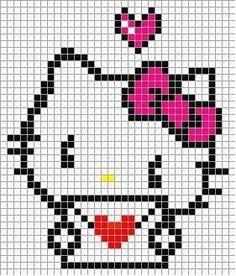 .Hello Kitty letter love perler bead pattern