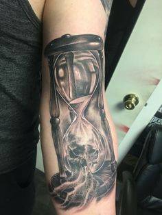 Hour glass tattoo. Time waits for no one