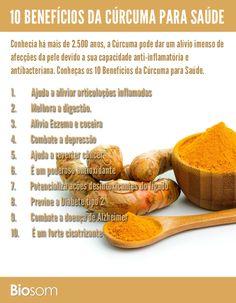 Clique na imagem para ver os 10 benefícios incríveis da cúrcuma para saúde #cúrcuma #vitamina #saúde #benefícios #açafrão