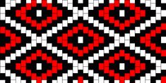Red And Black Diamonds Kandi Pattern