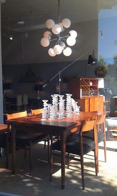 70s chrome chandelier