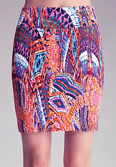 Printed Wide Waist Skirt