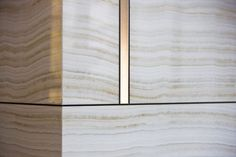 Wall panel stone join detail