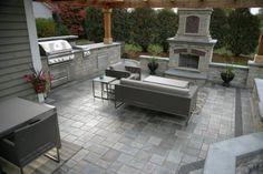 Ideas backyard fireplace patio entertaining for 2019 Cheap Pergola, Pergola Patio, Pergola Kits, Backyard Patio, Pergola Ideas, Decking Ideas, Wedding Backyard, Patio Diy, Patio Ideas