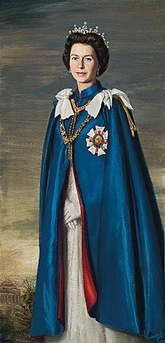 Portrait of H.m. Queen Elizabeth II, 1967 by Paul Fitzgerald {1922-} Australia