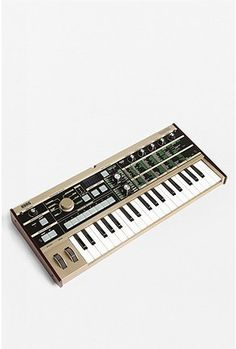 MicroKorg: a 37-mini key 4-voice synthesizer and vocoder = hours and hours and hours of fun!