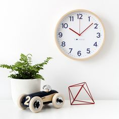 This navy blue wall clock has the classic nautical theme of navy and red. Clocksicle clocks are unique in that while they are great for everyone, they have Blue Wall Clocks, Navy Blue Walls, Telling Time, Great Night, Live Wallpapers, Nautical Theme, Simple Nails, Hand Coloring, Interior Styling