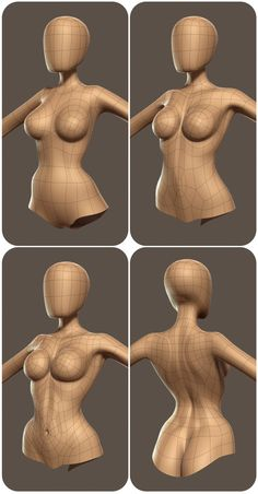Dieses Modell zeigt unterschiedliche Dichten der Topologie, die alle überprüft… This model shows different densities of the topology, all of which are checked. 3d Model Character, Character Modeling, Character Creation, Game Character, Zbrush Character, Character Rigging, Character Concept, Polygon Modeling, 3d Modelle