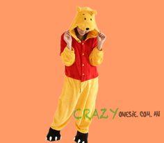 Winnie the Pooh Onesie. Onesie Diy, Mens Onesie, Onesies, Onesie Costumes, Gold Coast Australia, Different Styles, Winnie The Pooh, Competition, Delivery