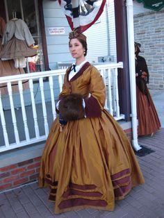 1860s Civil War Victorian Dress