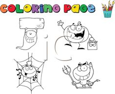 The Clip Art Guide Blog: Hundreds of Colouring Pages to Get Tots in the Halloween Spirit