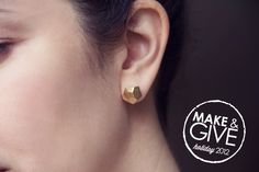 DIY Gold Nugget Earrings | Lovely Indeed