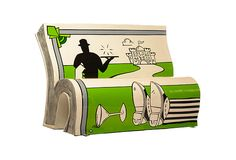 Illustrated book benches promote literacy in London